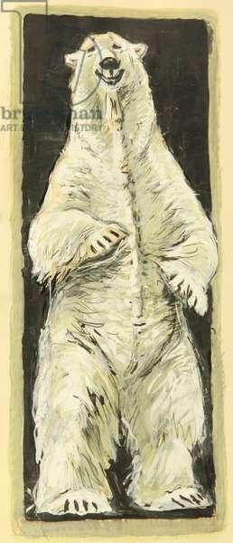 Polar Bear, c.1960 (gouache on paper)