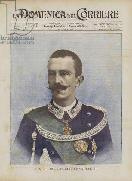 S M Il Re Vittorio Emanuele III (colour litho)