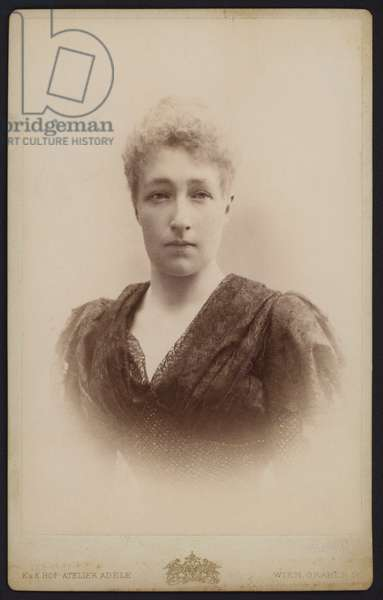 Portrait, Princess Stephanie, daughter of King Leopold II of the Belgians (b/w photo)