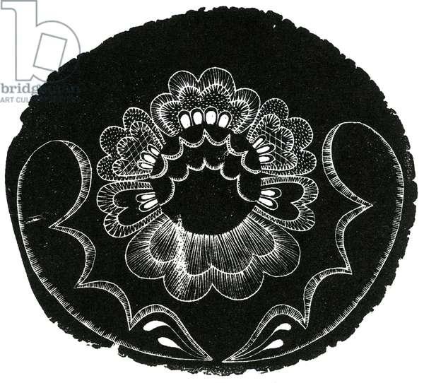 Scandinavian Folk Embroidery, 2013 (wood engraving on paper)