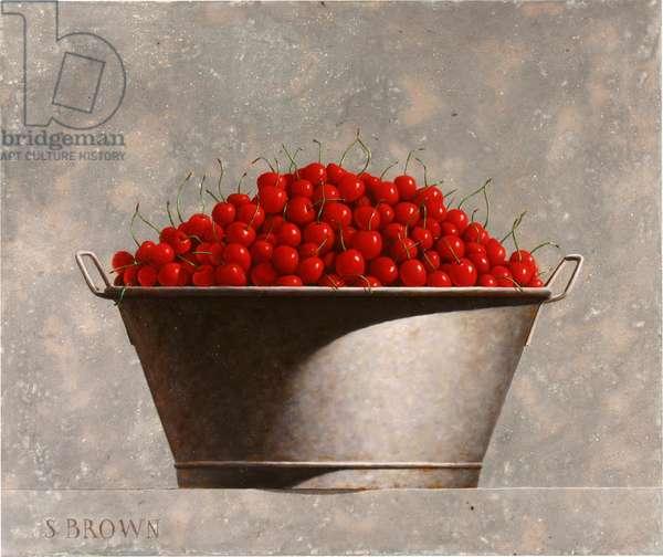 Tub Full of Cherries, 2018 (oil on canvas)
