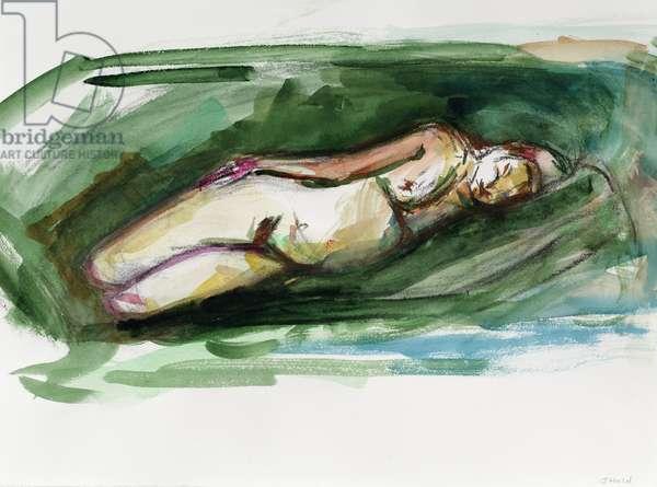 Reclining Nude, 2015, (watercolour)