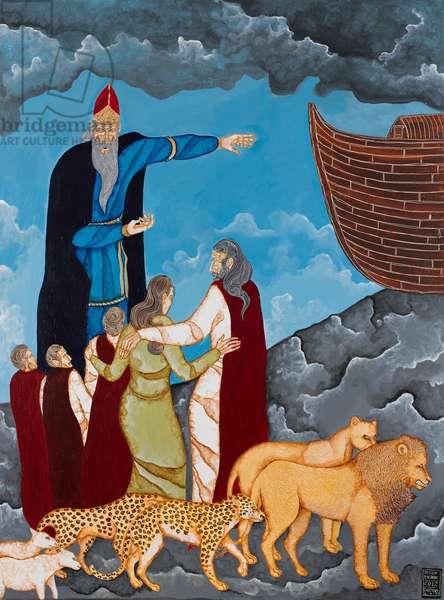 The Exodus to the Arc Genesis Series, 2012 (acrylic on canvas)