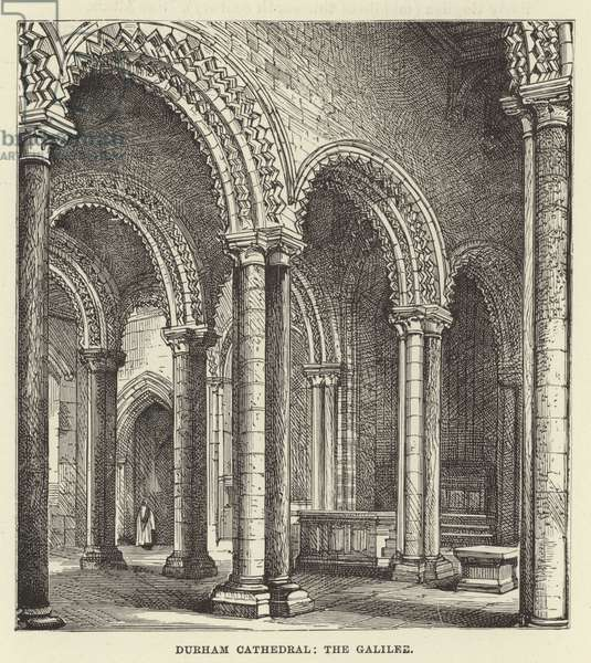Durham Cathedral, the Galilee (engraving)