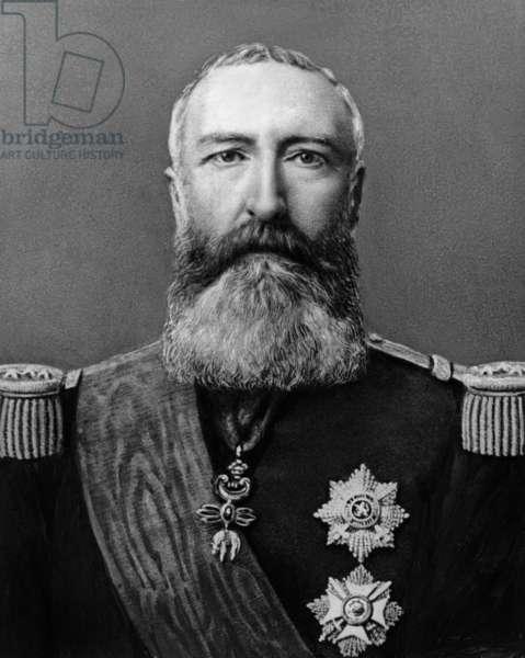 Leopold II (1835-1909) King  of Belgians in 1865-1909, engraving