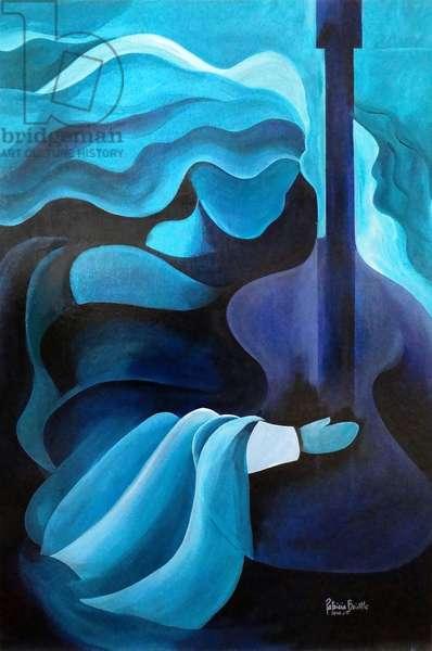 I hear music in the air, 2010 (acrylic on wood)