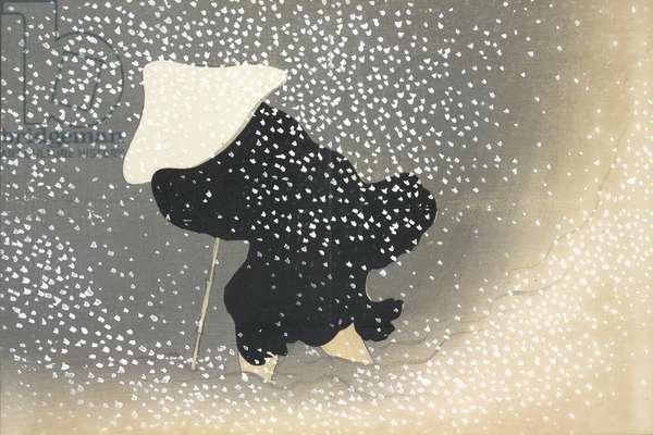 Sato No Yuki, fromMomoyo-gusa (The World of Things) Vol I, pub.1909 (colour block woodcut)