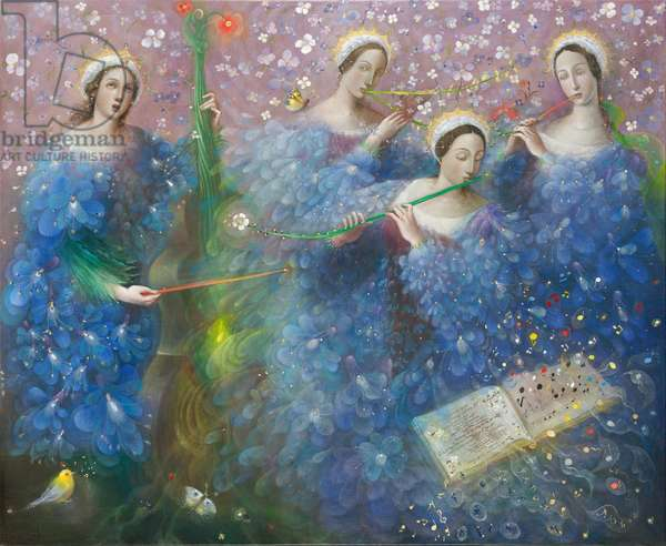 Song of the Goddess Natura - after the music of Max Reger, 2013 (oil on Belgian linen)