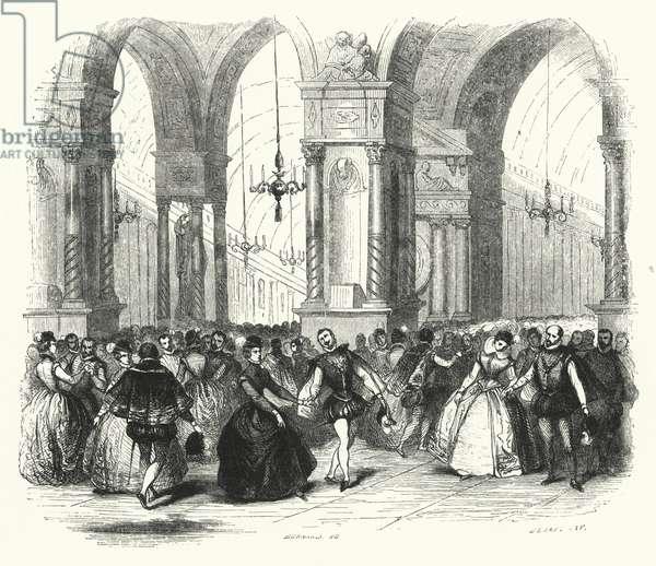 Illustration for Les Huguenots by Giacomo Meyerbeer (engraving)