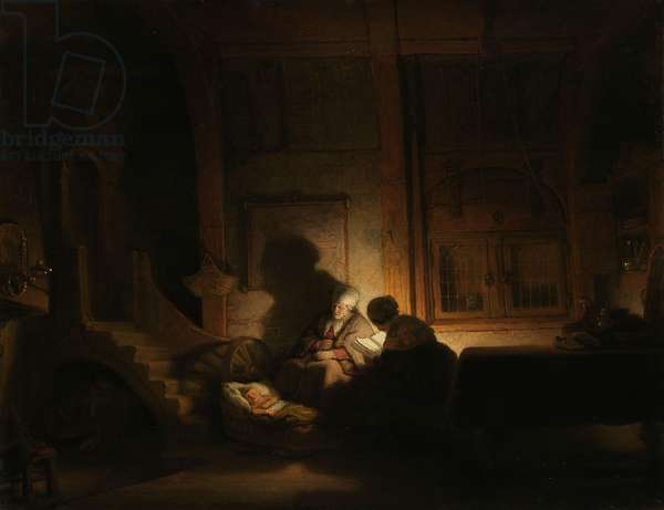 The Holy Family at Night, c.1642-48 (oil on panel)