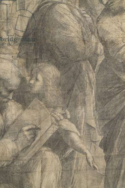 Pitagora, detail of the preparatory cartoon for The School of Athens, 1510 (charcoal and white lead)