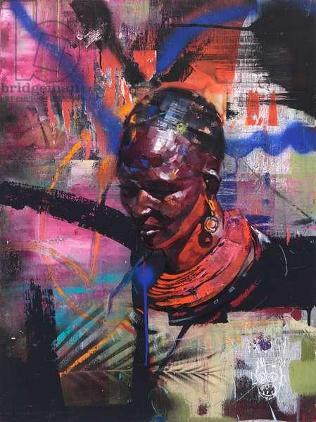 Mumma Africa (oil on panel)