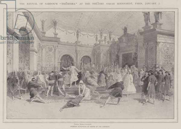 "The Revival of Sardou's ""Theodora"" at the Theatre Sarah Bernhardt, Paris, 7 January (litho)"