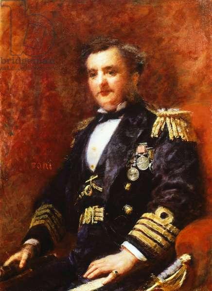 Portrait of Admiral Mervyn Medlycott, by Daniele Ranzoni, oil on canvas