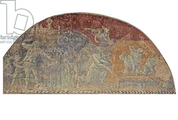Murder of Cain, 1425-1430 (fresco)