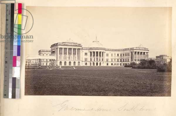 Government House (Raj Bhavan) South Front, Calcutta (silver gelatin print)