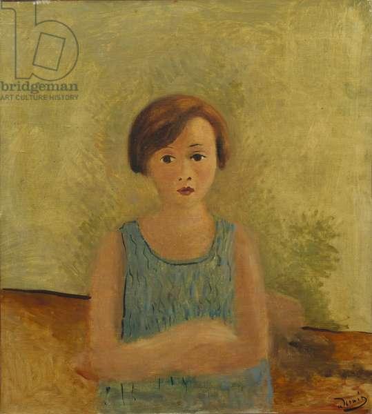 Little Girl in Blue, c.1928 (oil on canvas)