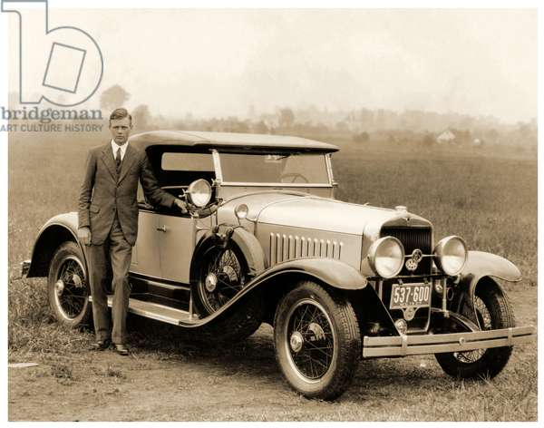Charles Lindbergh, St. Louis. 1927 (b/w photo)