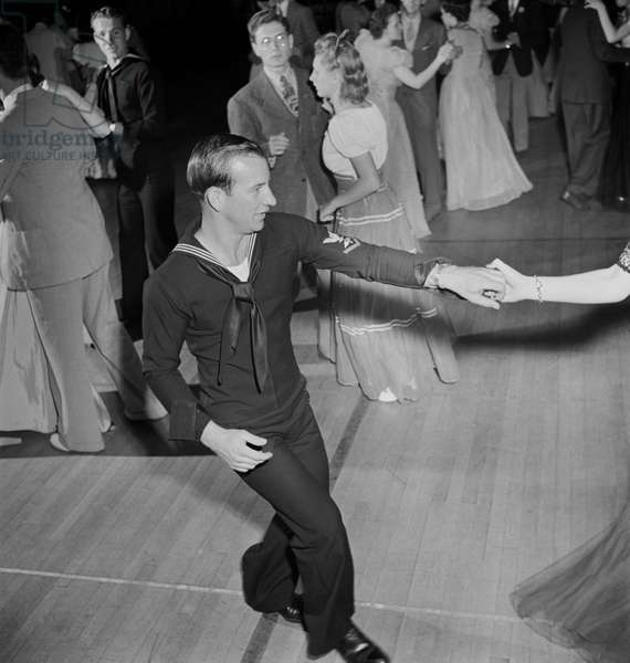 Sailor Jitterbugging at Senior Prom, Greenbelt, Maryland, USA, Marjorie Collins for Farm Security Administration, June 1942