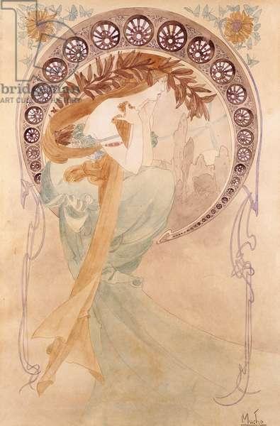 La Poesie,  (watercolour on paper)