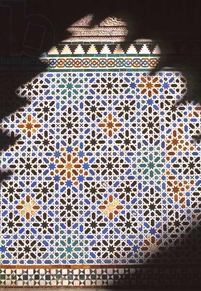 Azulejos tiles, Patio de las Doncellas (Courtyard of the Maidens),  (photo)