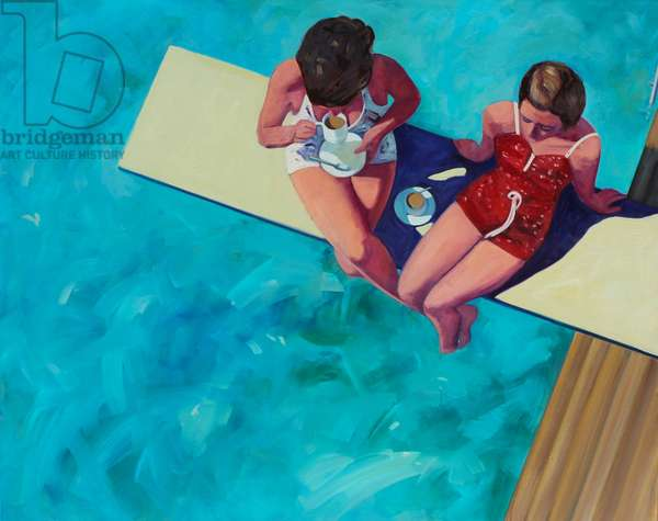 Diving Board Tea for Two, 2015, (oil on canvas)