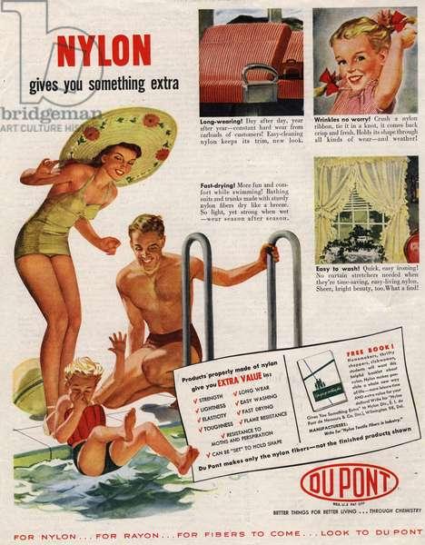 Nylon by DuPont Magazine, advert, USA, 1940s