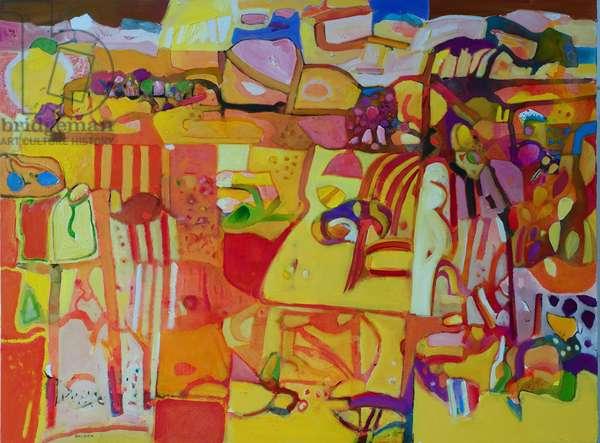 Design for a Desert Garden (oil on canvas)