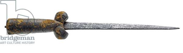 Bollock dagger and sheath, late 15th century (wood & metal)