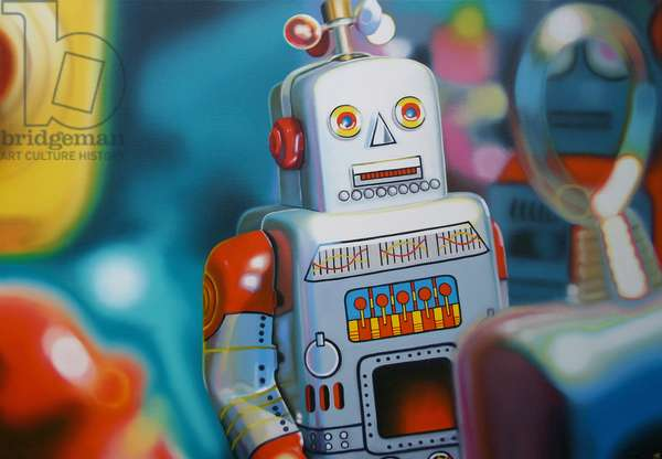 Planet Robot, 2007, (oil on canvas)