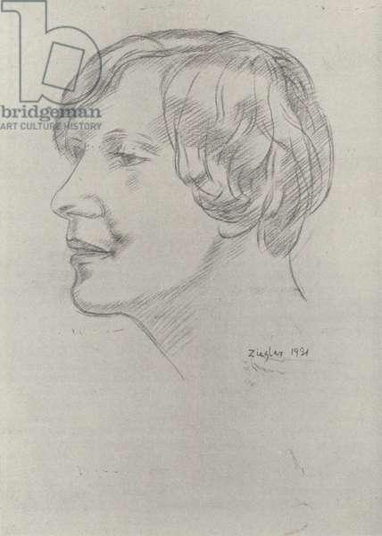 Mary Butts, English writer (litho)