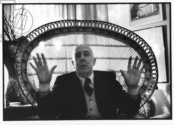 Fausto Melotti, Milan, Italy, 1975 (b/w photo)