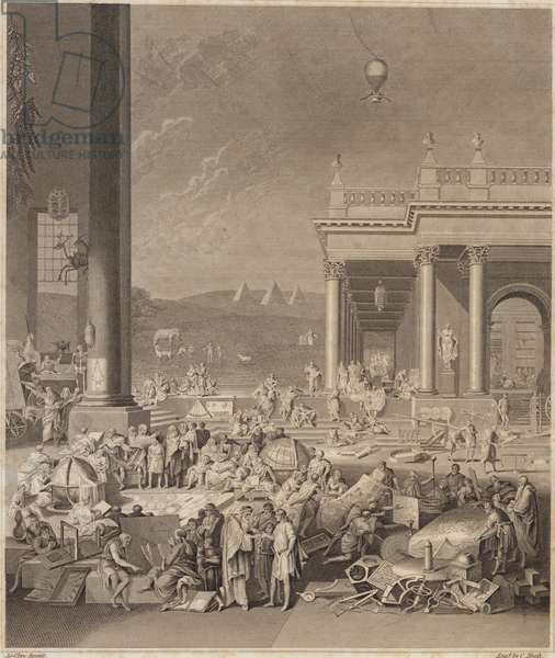 A scene for the Encyclopaedia Britannica (engraving)