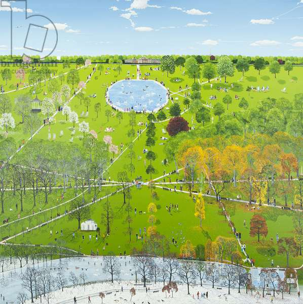 Mapping Hyde Park, 2011 (oil on canvas)