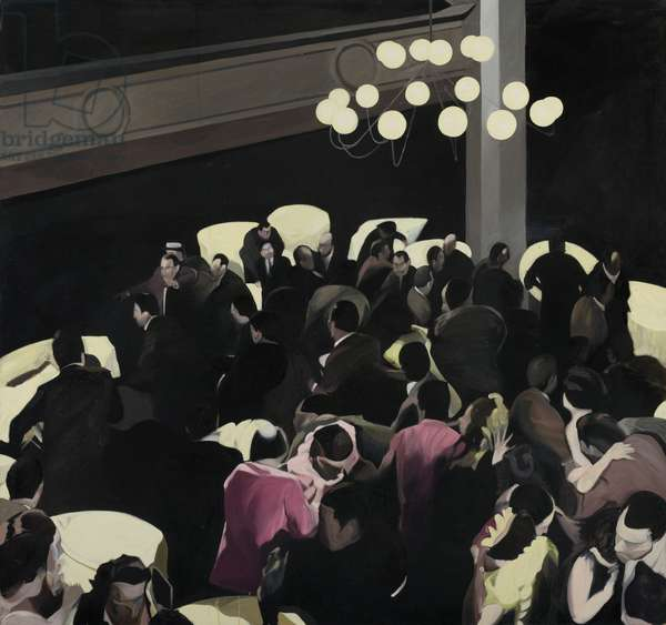 Untitled (Party Scene triptych left), 1993 (oil on canvas)