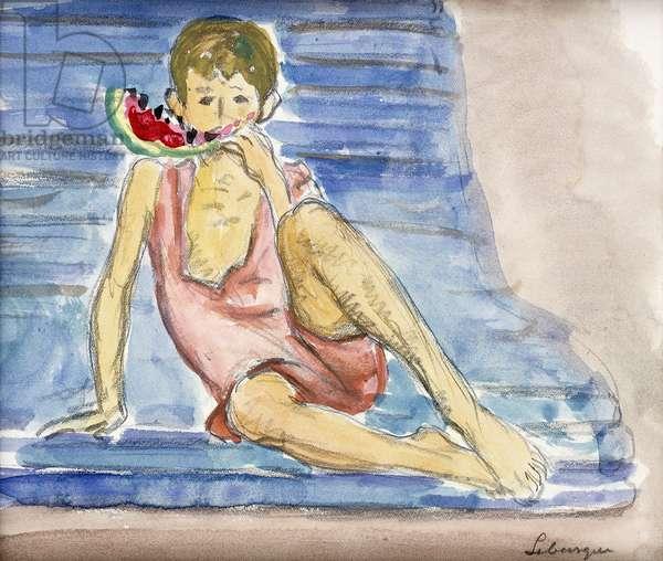 The Artist's Son; Le Fils de l'Artiste, (watercolour and pencil on paper)
