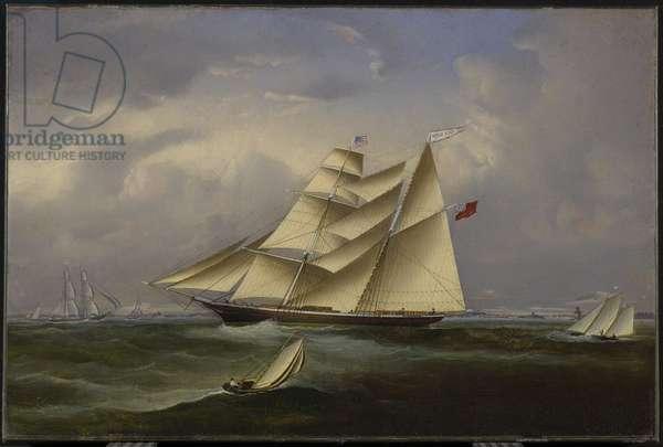 The 'Ocean Bride' Leaving Halifax Harbour, 1854 (oil on canvas)
