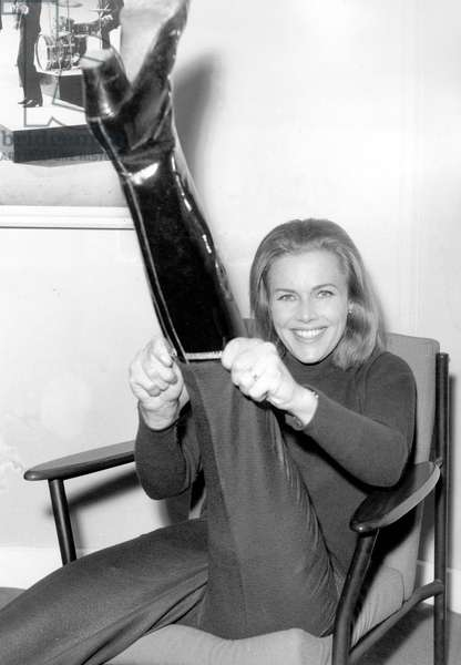Actress Honor Blackman January 09, 1964 , known by Cathy Gale character in the series The Avengers