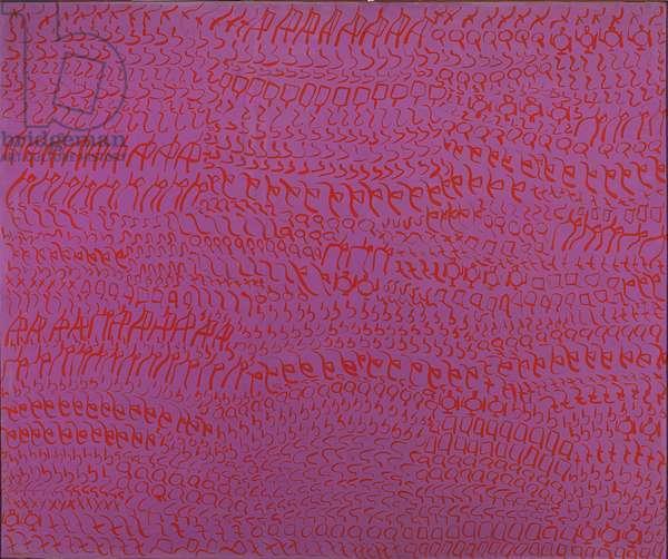 Purple red - Second, Red Violet (Viola rosso - Concilio; Rosso Viola), by Carla Accardi, 1963, 20th Century, casein tempera on cotton canvas, 162 ? 195 cm