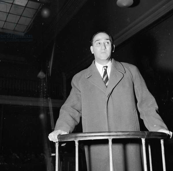 Hamid Djenadi, former boxer, at his trial for murder, 1952