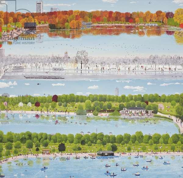 Autumn, Winter, Spring, Summer, 2008 (oil on canvas)
