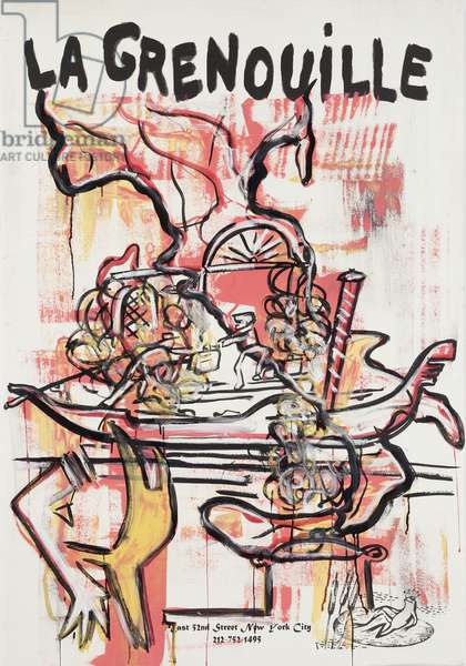 Anti-Social Pasta, 2012 (mixed media on w/c paper mounted on panel with recipe on verso)