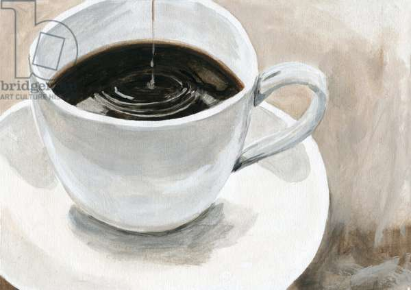 Coffee ,2015(Acrylic paint on paper)