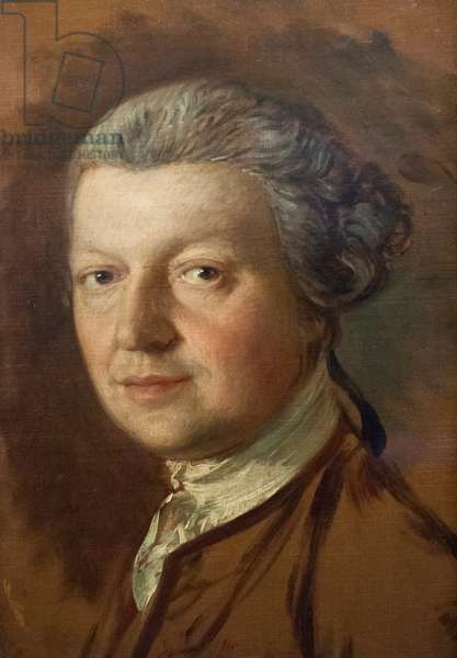 Portrait of Joshua Kirby (1716-1774), c.1754-56 (oil on canvas)