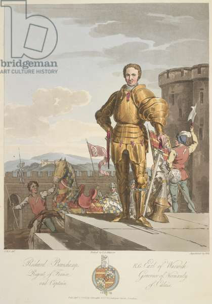 Richard Beauchamp (1381-1439) Earl of Warwick, Anno 1439, illustration from 'The Costume of the original inhabitants of the British Islands from the earliest periods to the sixth century...' by Sir Samuel Rush Meyrick and C.H. Smith, published 1815 (colour litho)