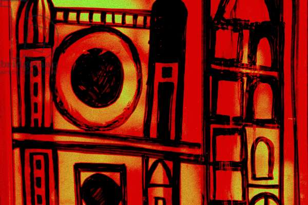 Jerusalem (1), from the series Italian Synagogue, 2015, (mixed media)