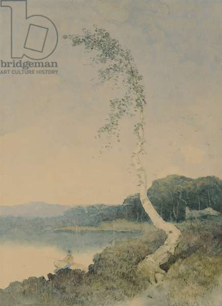 Silver Birch by a Lake, 1845 (w/c on paper)