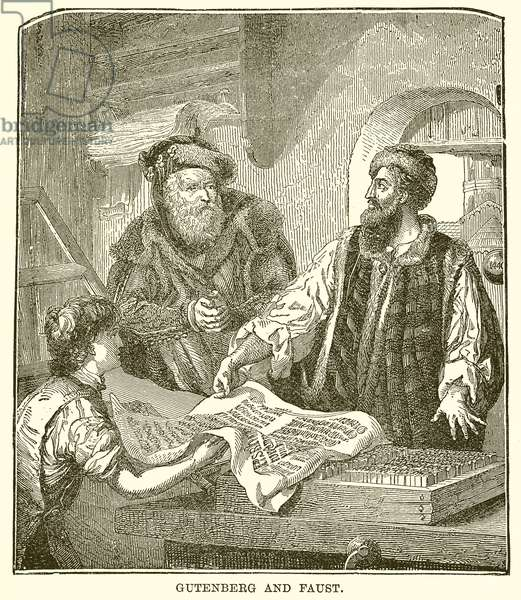 Gutenberg and Faust (engraving)