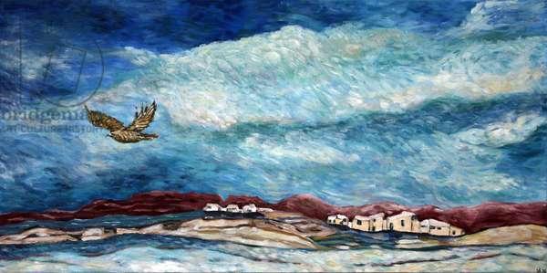 Southwestern Hawk, 2015, acrylic on canvas