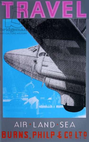 Travel: Air, Land Sea (Pink), 2014 (silkscreen on paper)